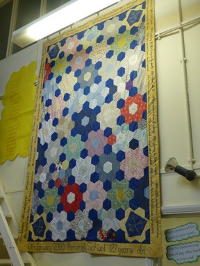 127th anniversary patchwork quilt
